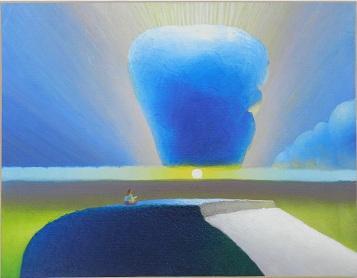 HUILE SUR TOILE | meditation  Dimensions : 79 x 61 cm