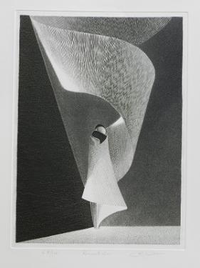 LA RECONCILIATION  Toi, l'éternité.   Gravure au burin sur cuivre + eau forte 48 X 35 cm sur papier velin 250 g/m² 50x65 cm  Gabriel Richard Sculpteur Plasticien 41360 CELLE. 02.54.23.71.68