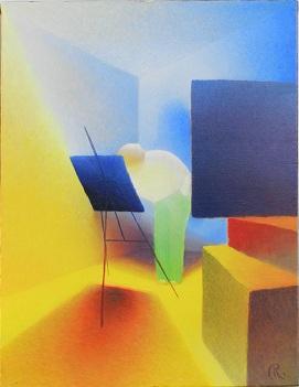 Huile sur Toile | LE PEINTRE  Dimensions : 50 x 65 cm