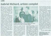 3 PORTES OUVERTES A mon Atelier de CELLE (41360) , RICHARD Gabriel