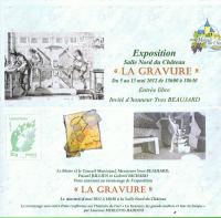 Exposition Salle Nord du château - MAREUIL sur CHER à 18 h 30 , RICHARD Gabriel
