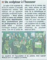 SALON DES ARTISTES : un INVITE D'HONNEUR , RICHARD Gabriel